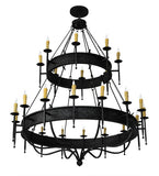 "72""W Gina 24 Lt Two Tier Gothic Chandelier"