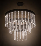 "60""W Aquagen Three Tier Glam Chandelier"