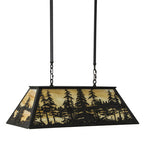 "36""L Tall Pines Rustic Lodge Island/Billiard Pendant"