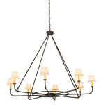 "60""W Brach Ring 8 Lt Contemporary Chandelier"