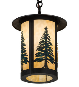 "10""W Fulton Tall Pines Outdoor Pendant"
