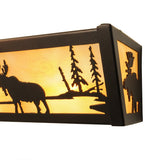 "24""W Moose Wildlife Vanity Light"