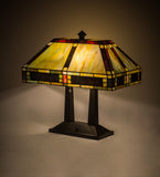 "20""H Chaves Oblong Stained Glass Table Lamp"