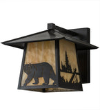 "12""W Stillwater Northwoods Lone Bear Outdoor Sconce"