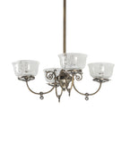 "27"" W Revival Gas & Electric 4 Lt Chandelier"