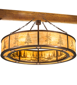 "62""W Lodge Tall Pines Pendant"