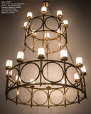 "60""W Porta 20 Lt Two Tier Modern Chandelier"