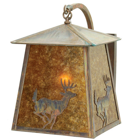 "14""W Stillwater Lone Deer Curved Arm Sconce"