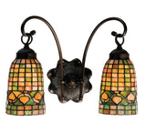 "14.5""W Acorn 2 Lt Tifffany Rustic Lodge Wall Sconce"