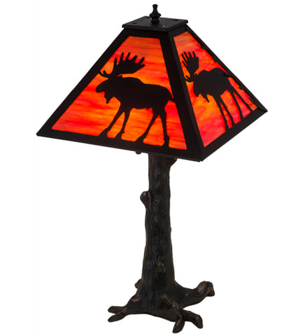 "24""H Lone Moose Wildlife Table Lamp"