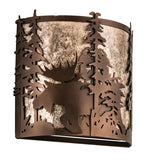 "12""W Moose Wildlife Wall Sconce"