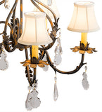"25""W Chantilly 5 Lt Fabric Victorian Chandelier"