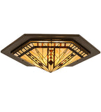 "36""W Sonoma Stained Glass Southwest Flushmount"
