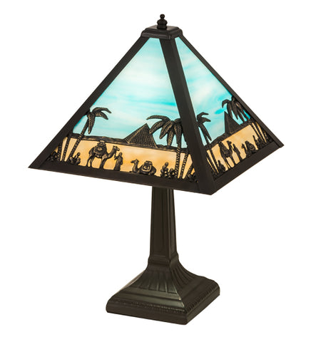 "16""H Camel Mission Table Lamp"