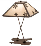 "28""H Snowflake Table Lamp"