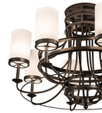 "46""W Saxony 8 Lt Contemporary Chandelier"