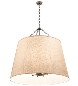 "42""W Cilindro Tapered Fabric Pendant"