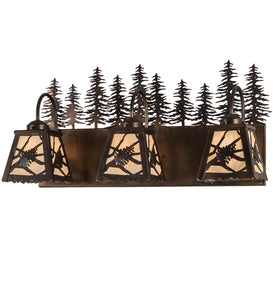 "28""W Spruce Pine 3 Lt  Lodge Vanity Light"