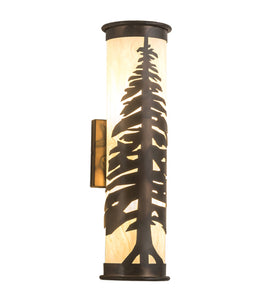 "5""'W Pine Tree Wall Sconce"