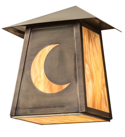 "9""W Stillwater Crescent Moon Outdoor Wall Sconce"