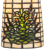"5""W Pine Barons Floral Stained Glass Flushmount"