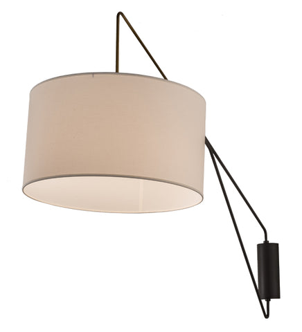 "22""W Cilindro Textrene Modern Swing Arm Wall Sconce"