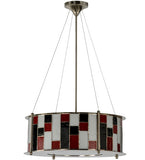 "22""W Utopia Synchronic Stained Glass Contemporary Pendant"