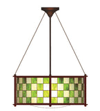 "22""W Utopia Plaza Stained Glass Modern Pendant"