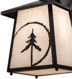 "8""W Evergreen Etch Outdoor Wall Sconce"