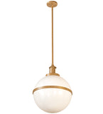 "16.5""W Globe Contemporary Pendant"