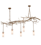 "72"" Long Winter Solstice Cilindro 5 Lt Modern Chandelier"