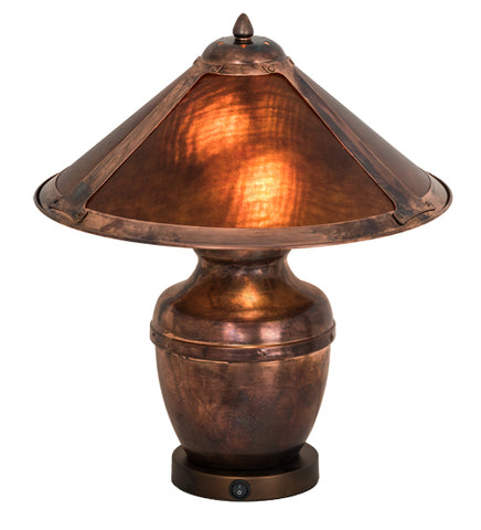 "20""H Van Erp Amber Mica Table Lamp"