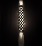 "7""W Checkers Tube Contemporary Wall Sconce"