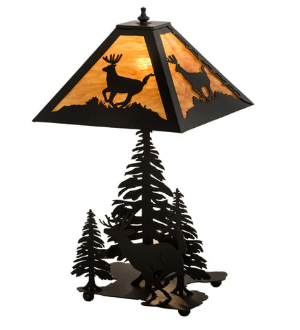 "22""H Lone Deer Wildlife Table Lamp"
