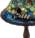 "19""H Loon Stained Glass Table Lamp"