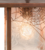 "9""Sq Hyde Park Spider Web Outdoor Pendant"