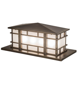 "33"" Long Tea House Oblong Pier Mount"