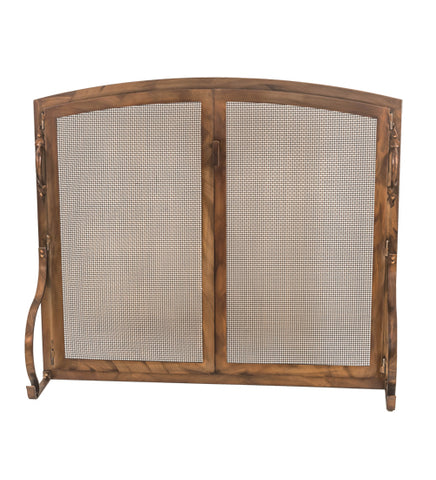 "44""W X 38""H Prime Arched Operable Door Fireplace Screen"