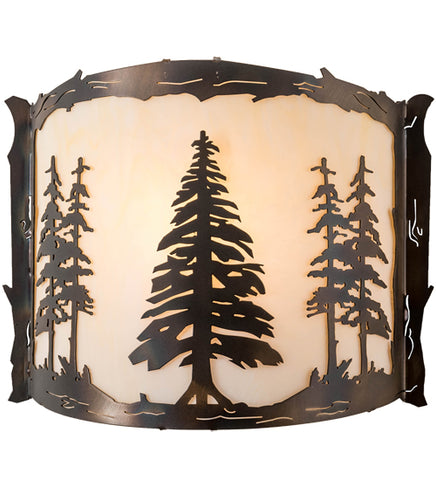"12""W Tall Pines Lodge Wall Sconce"
