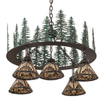 "34""W Nuevo Mission Tall Pines 5 Lt Chandelier"