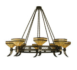 "72""W Top Ridge 8 Lt Rustic Lodge Chandelier"