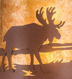 "15""W Moose at Lake Wildlife Wall Sconce"