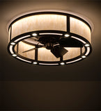 "36""W Smythe Craftsman LED Chandel-Air Ceiling Fan"