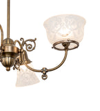 "27""L Revival Gas & Electric 4 Lt Oblong Chandelier"