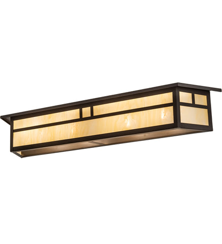"39""W Hyde Park Double Bar Mission Vanity Light"