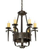 "24""W Costello 6 Lt Gothic Chandelier"