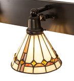 "36""W Belvidere 3 L Stained Glass Vanity Light"