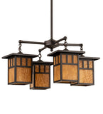 "31""W Hyde Park Double Bar Mission 4 Lt Chandelier"
