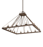 "60""Sq Retreat Modern Chandelier"