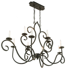 "48""L Clifton Oval 10 Lt Victorian Chandelier"